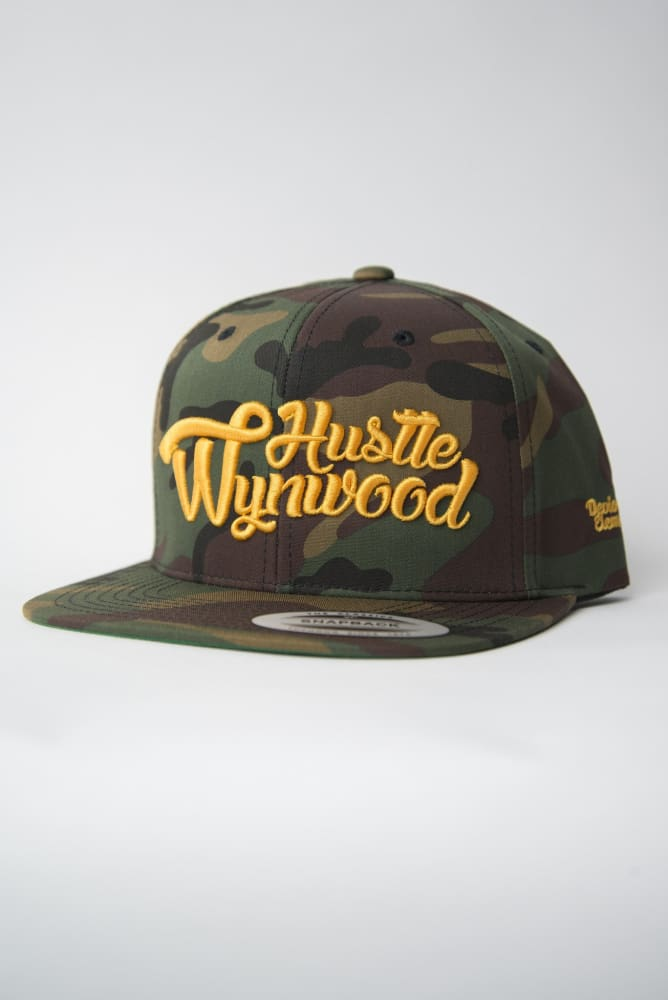 Hustle Wynwood Graffiti Gold Camo Snapback Hat Hustle Wynwood hat Hustle Wynwood Graffiti Gold Camo Snapback Hat Hustle Wynwood Graffiti Gold Camo Snapback Hat - Devious Elements Apparel