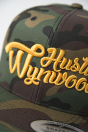 Hustle Wynwood Graffiti Gold Camo Snapback Hat - Devious Elements Apparel
