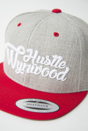 Hustle Wynwood Graffiti Heather Grey Red Snapback Hat Hustle Wynwood hat Hustle Wynwood Graffiti Heather Grey Red Snapback Hat Hustle Wynwood Graffiti Heather Grey Red Snapback Hat - Devious Elements Apparel