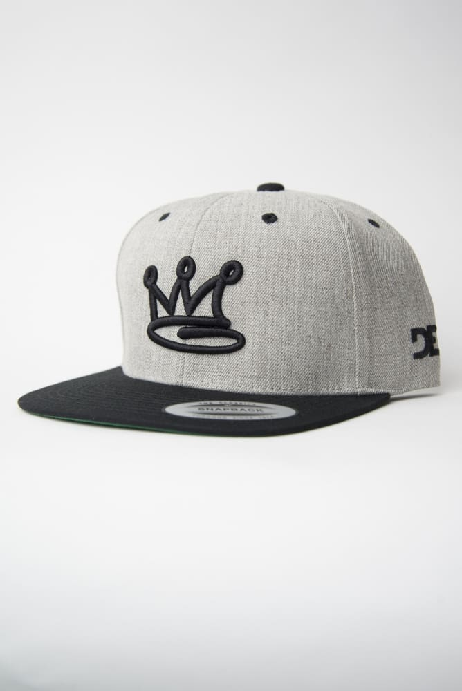 Crown Heather Grey Snapback Hat - Devious Elements Apparel