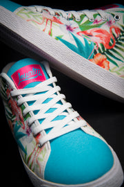 Loyalty Flamingo Watercolor Canvas Mid Top Ladies Sneaker Loyalty shoes Loyalty Flamingo Watercolor Canvas Mid Top Ladies Sneaker Loyalty Flamingo Watercolor Canvas Mid Top Ladies Sneaker - Devious Elements Apparel