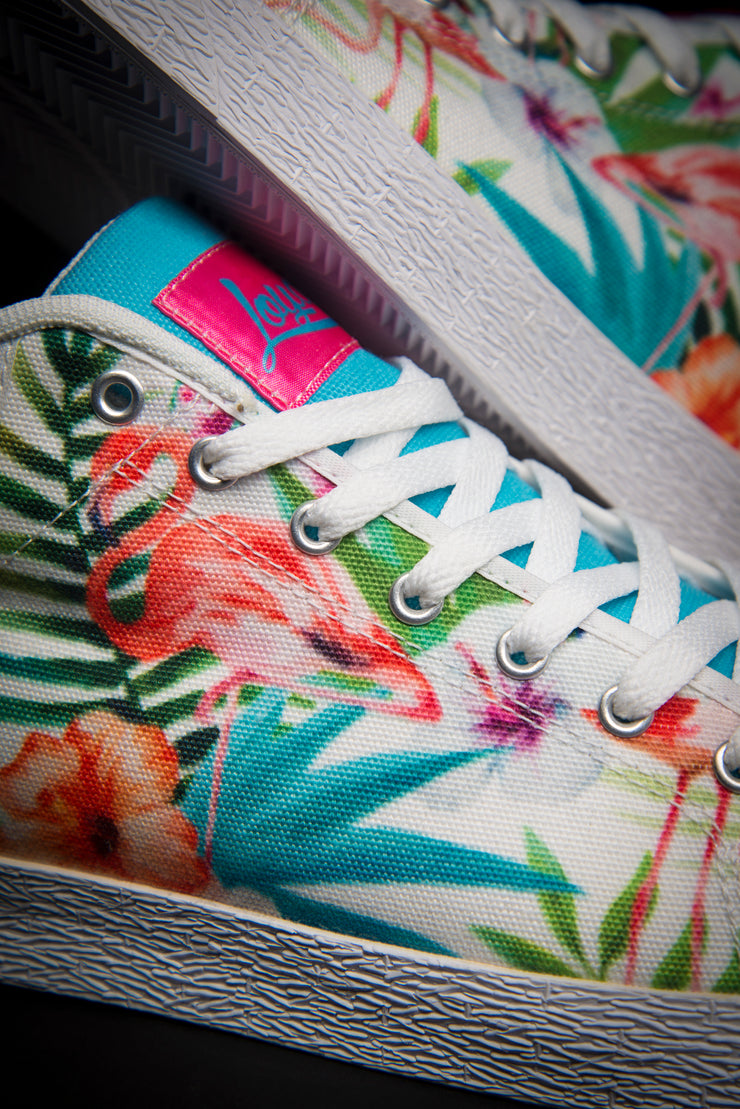 Loyalty Flamingo Watercolor Canvas Mid Top Men's Sneaker Loyalty shoes Loyalty Flamingo Watercolor Canvas Mid Top Men's Sneaker Loyalty Flamingo Watercolor Canvas Mid Top Men's Sneaker - Devious Elements Apparel