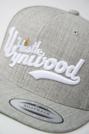 Hustle Wynwood Crown Heather Grey Snapback Hat - Devious Elements Apparel