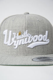 Hustle Wynwood Crown Heather Grey Snapback Hat Hustle Wynwood hat Hustle Wynwood Crown Heather Grey Snapback Hat Hustle Wynwood Crown Heather Grey Snapback Hat - Devious Elements Apparel