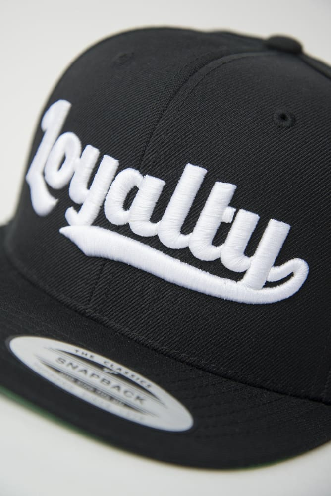 Loyalty Throwback White Stitch Snapback Hat Loyalty hat Loyalty Throwback White Stitch Snapback Hat Loyalty Throwback White Stitch Snapback Hat - Devious Elements Apparel