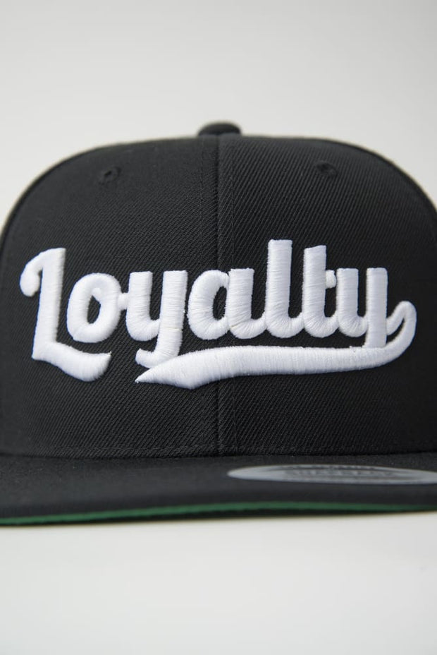 Loyalty Throwback White Stitch Snapback Hat - Devious Elements Apparel