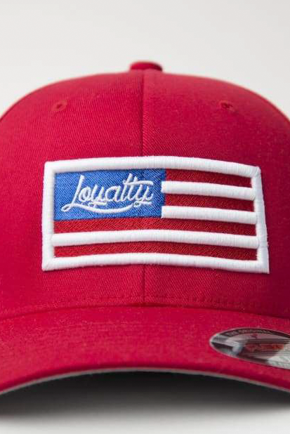 Loyalty Flag Fitted Hat Loyalty hat Loyalty Flag Fitted Hat Loyalty Flag Fitted Hat - Devious Elements Apparel
