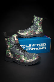 Goop Heads Camo Pattern Canvas Ladies Boots
