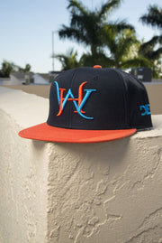 Hustle Wynwood Throwback Snapback Hat - Devious Elements Apparel