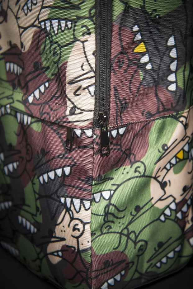 Goop Heads Camo Pattern Print Laptop Backpack Goopmassta Back Pack Goop Heads Camo Pattern Print Laptop Backpack Goop Heads Camo Pattern Print Laptop Backpack - Devious Elements Apparel