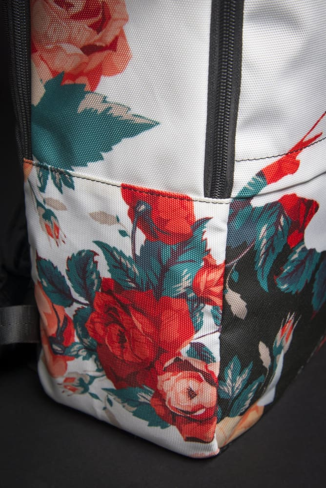Biggie Floral Print Laptop Backpack - Devious Elements Apparel