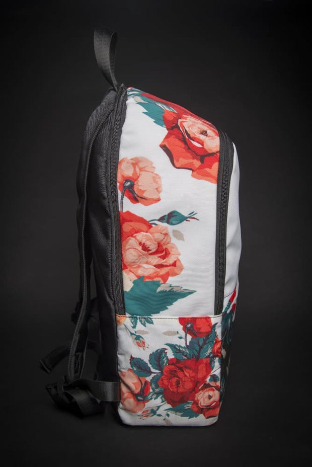Dali Floral Print Laptop Backpack - Devious Elements Apparel