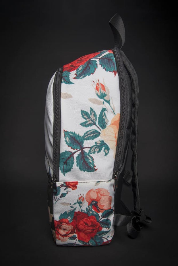 Frida Floral Print Laptop Backpack Devious Elements Apparel Back Pack Frida Floral Print Laptop Backpack Frida Floral Print Laptop Backpack - Devious Elements Apparel