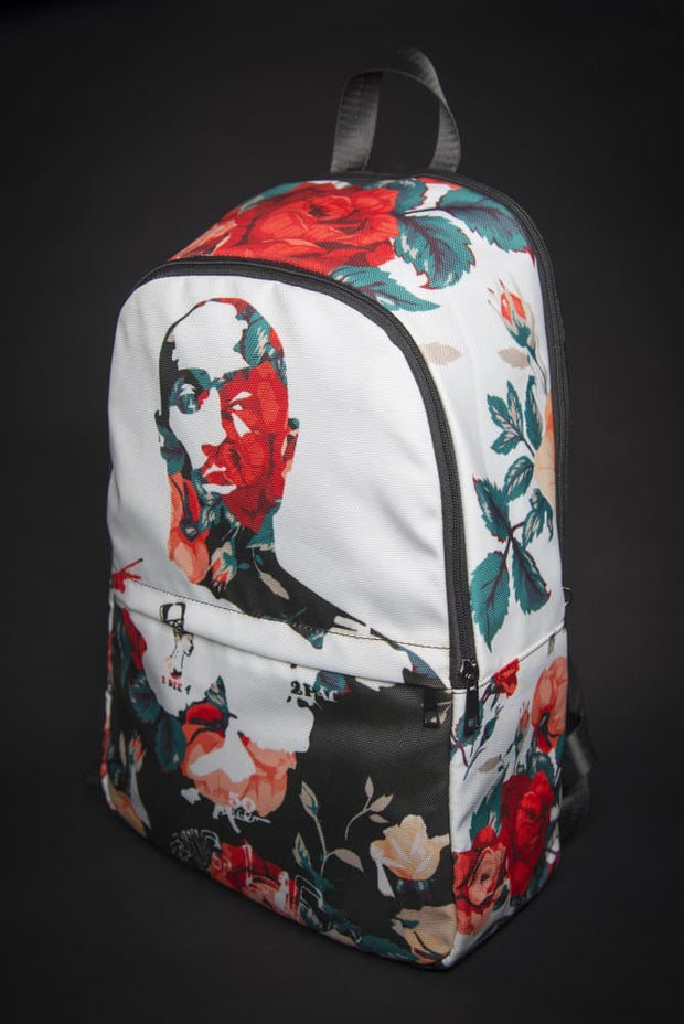 Tupac Floral Print Laptop Backpack Devious Elements Apparel Back Pack Tupac Floral Print Laptop Backpack Tupac Floral Print Laptop Backpack - Devious Elements Apparel