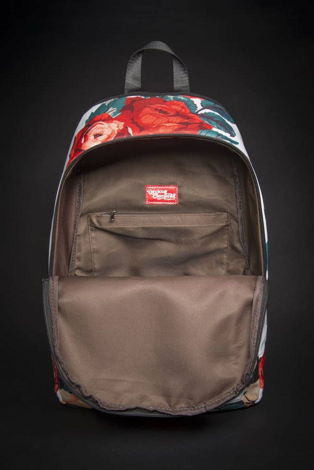 Tupac Floral Print Laptop Backpack - Devious Elements Apparel