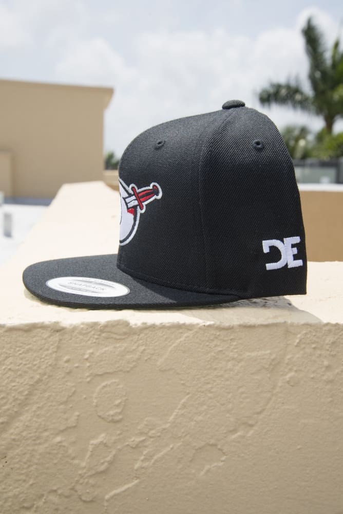 Third Eye Thrashers Black & Silver Logo Snapback Hat - Devious Elements Apparel