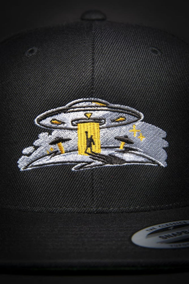 Take Me To Your Leader High Profile Snapback Hat - Devious Elements Apparel