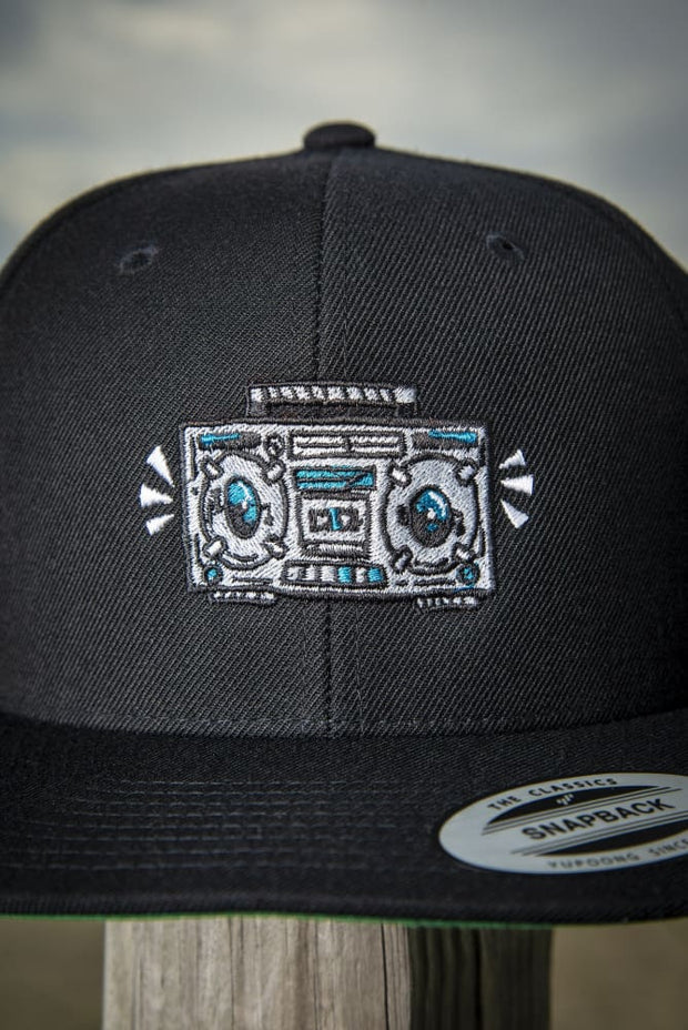 Boom Box High Profile Snapback Hat Carlos Solano hat Boom Box High Profile Snapback Hat Boom Box High Profile Snapback Hat - Devious Elements Apparel