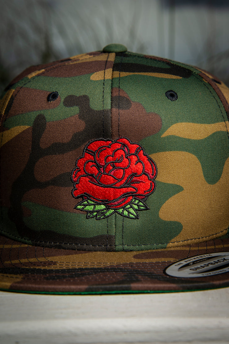 Rose Bud High Profile Snapback Hat