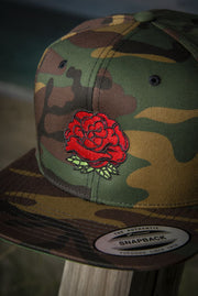 Rose Bud High Profile Snapback Hat - Devious Elements Apparel
