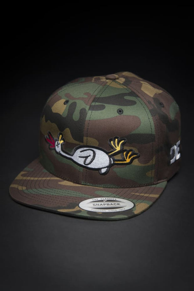 Dead Rubber Chicken Camo Snapback Hat - Devious Elements Apparel