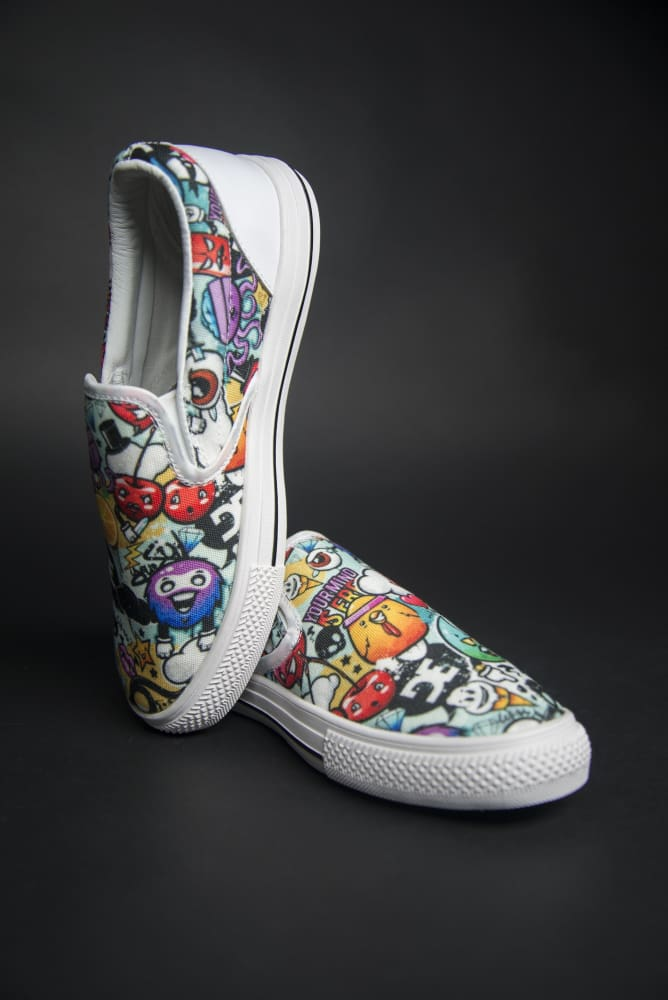 DE Graffiti Print Canvas Men's Slip On Low-Top Devious Elements Apparel shoes DE Graffiti Print Canvas Men's Slip On Low-Top DE Graffiti Print Canvas Men's Slip On Low-Top - Devious Elements Apparel