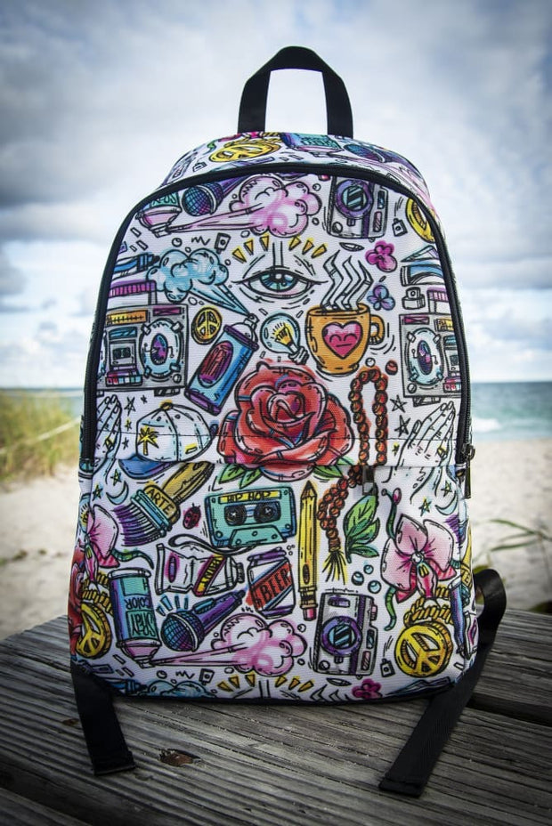 Funky Culture Pattern Print Laptop Backpack Carlos Solano Back Pack Funky Culture Pattern Print Laptop Backpack Funky Culture Pattern Print Laptop Backpack - Devious Elements Apparel