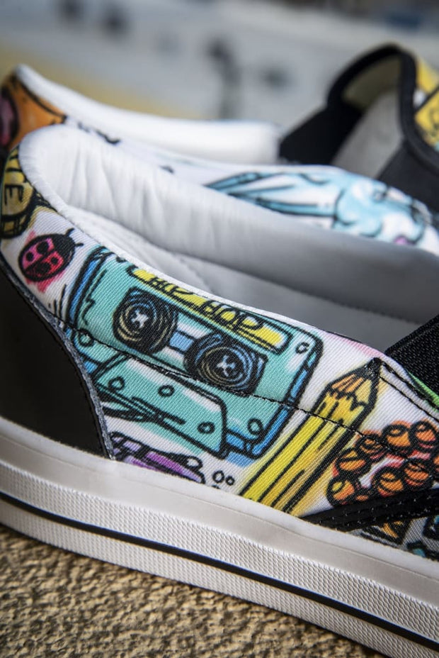 Funky Culture Pattern Print Canvas Ladies Slip On Low-Top Sneaker Carlos Solano shoes Funky Culture Pattern Print Canvas Ladies Slip On Low-Top Sneaker Funky Culture Pattern Print Canvas Ladies Slip On Low-Top Sneaker - Devious Elements Apparel