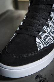 Funky Culture Print Canvas Hi-Top Ladies Sneakers Carlos Solano shoes Funky Culture Print Canvas Hi-Top Ladies Sneakers Funky Culture Print Canvas Hi-Top Ladies Sneakers - Devious Elements Apparel