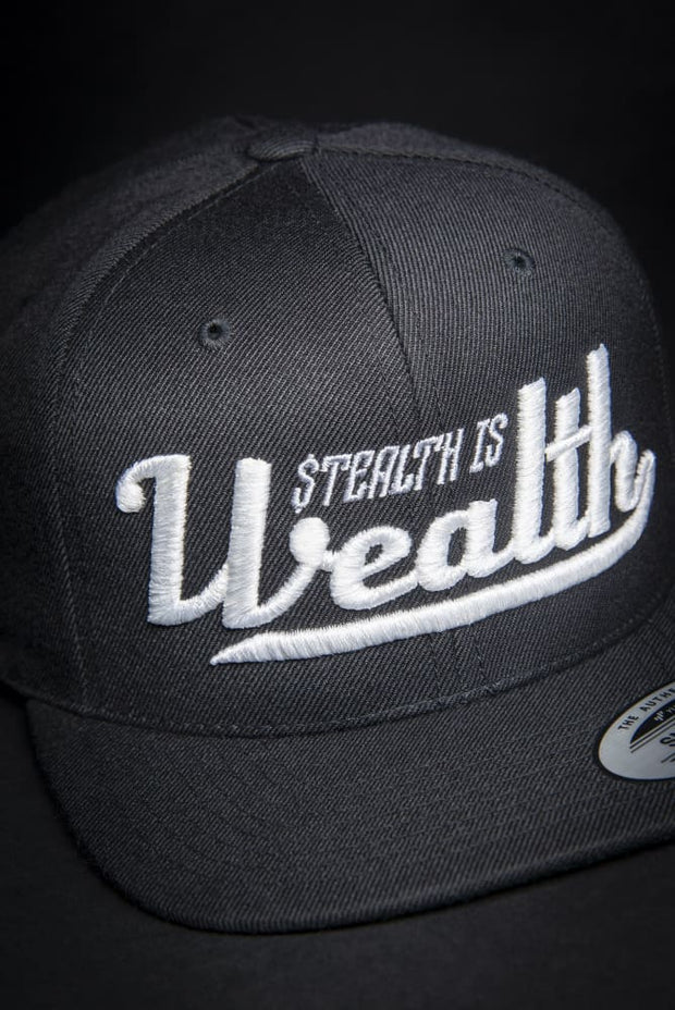 Stealth Is Wealth High Profile Snapback Hat - Devious Elements Apparel