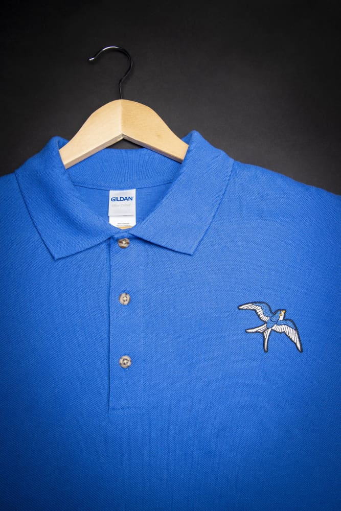 Blue Bird Embroidered Polo Shirt - Devious Elements Apparel
