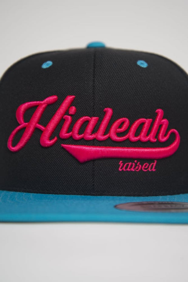 Hialeah Raised Teal Pink Snapback Hialeah Raised hat Hialeah Raised Teal Pink Snapback Hialeah Raised Teal Pink Snapback - Devious Elements Apparel