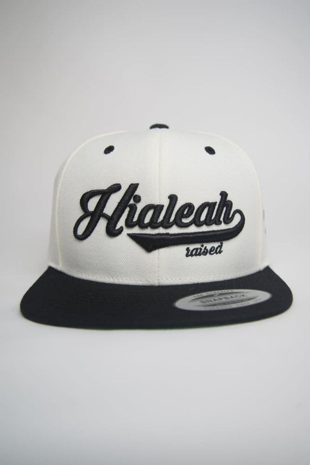 Hialeah Raised Black & White Snapback - Devious Elements Apparel