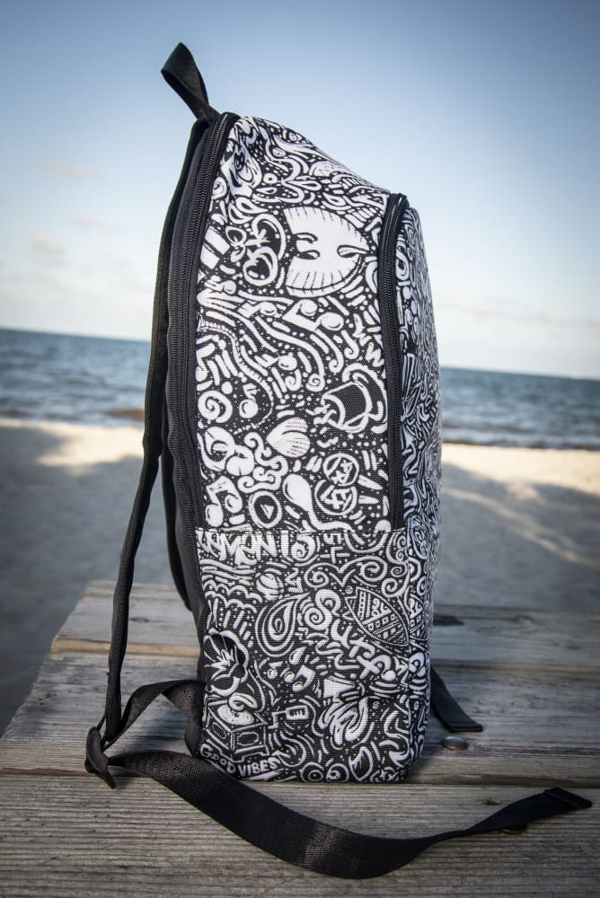 Devious Doodle Print Laptop Backpack - Devious Elements Apparel
