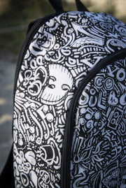 Devious Doodle Print Laptop Backpack Devious Elements Apparel Back Pack Devious Doodle Print Laptop Backpack Devious Doodle Print Laptop Backpack - Devious Elements Apparel