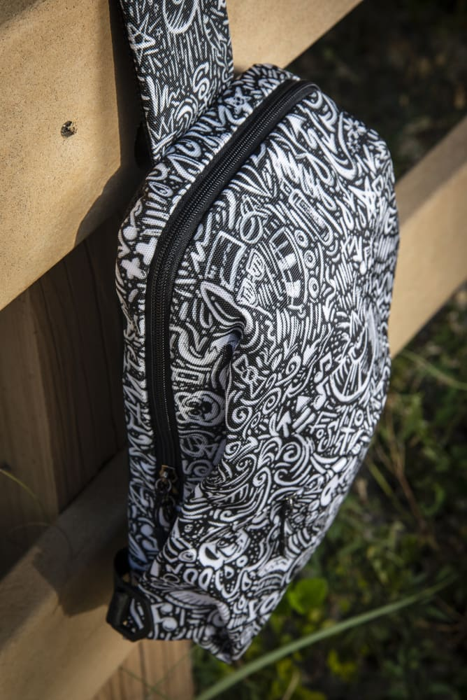 Devious Doodle Print Strap Chest Bag - Devious Elements Apparel