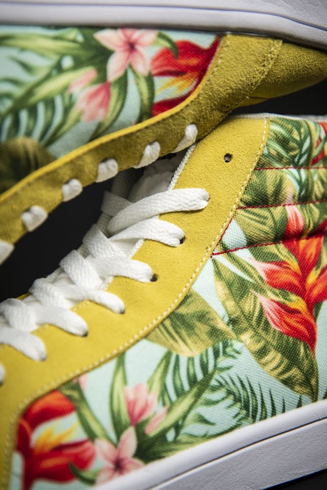 Tropic Vibes Print Canvas Hi-Top Ladies Sneakers - Devious Elements Apparel