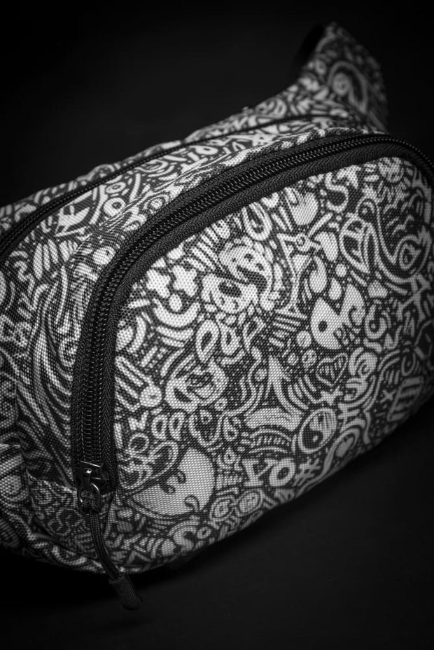Devious Doodle Print Fanny Pack - Devious Elements Apparel