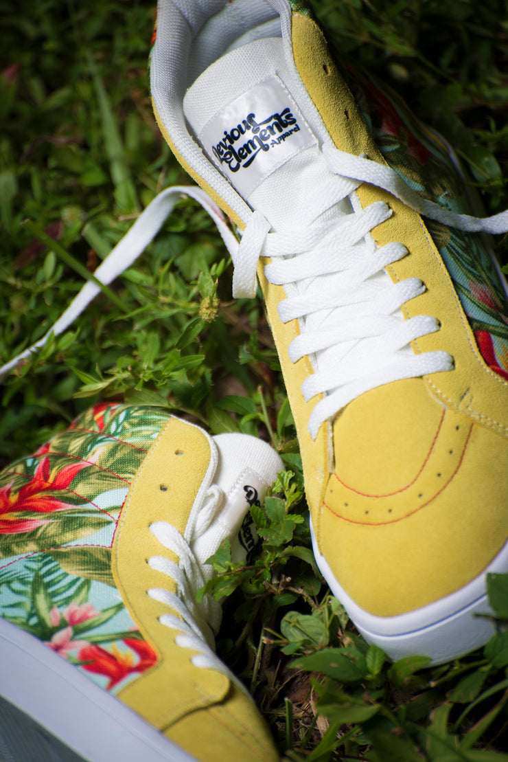 Tropic Vibes Print Canvas Hi-Top Ladies Sneakers