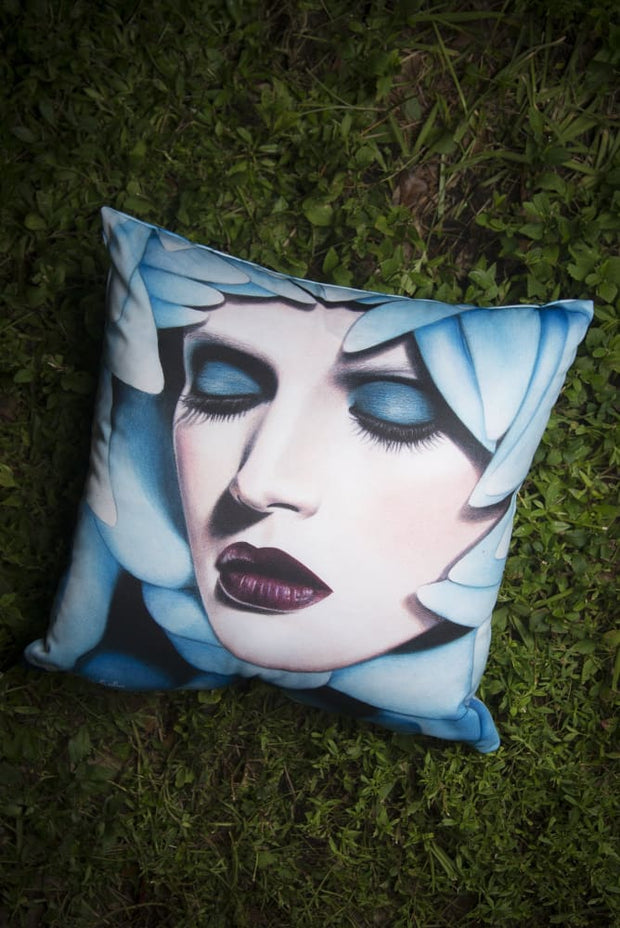 Blue Nectar Square Print Pillow - Devious Elements Apparel