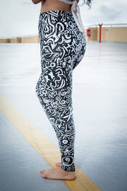 Devious Doodle Pattern Print Legging Devious Elements Apparel Leggings Devious Doodle Pattern Print Legging Devious Doodle Pattern Print Legging - Devious Elements Apparel