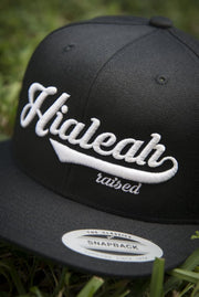 Hialeah Raised Black Snapback - Devious Elements Apparel