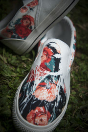 Biggie Floral Print Canvas Men's Slip On Low-Top Devious Elements Apparel shoes Biggie Floral Print Canvas Men's Slip On Low-Top Biggie Floral Print Canvas Men's Slip On Low-Top - Devious Elements Apparel