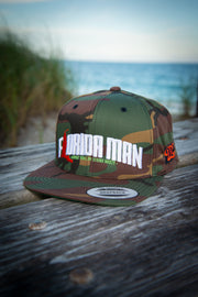 Florida Man (Where Will He Strike Next?) Camo Snapback Hat