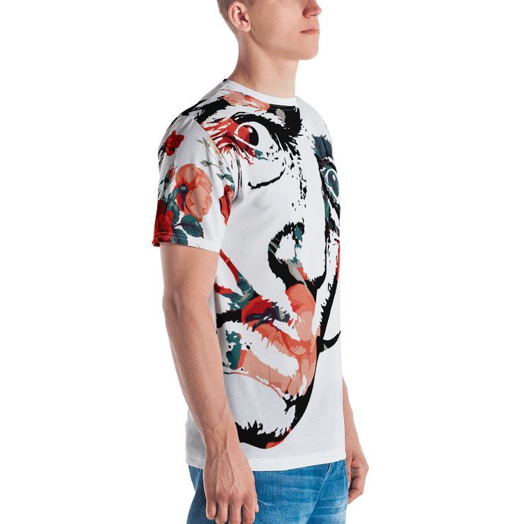 Dali Floral All-Over-Print Unisex Crew T-shirt - Devious Elements Apparel