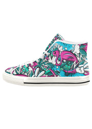 Tropicana Print Ladies Canvas High Top Sneaker