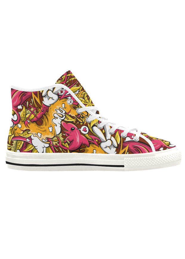 Tropicana Print Men's Canvas High Top Sneaker