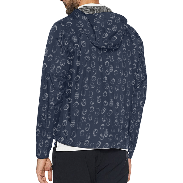 Robot Heads Pattern Windbreaker Zipper Hoodie Pixel Pancho Windbreaker Hoodie Robot Heads Pattern Windbreaker Zipper Hoodie Robot Heads Pattern Windbreaker Zipper Hoodie - Devious Elements Apparel