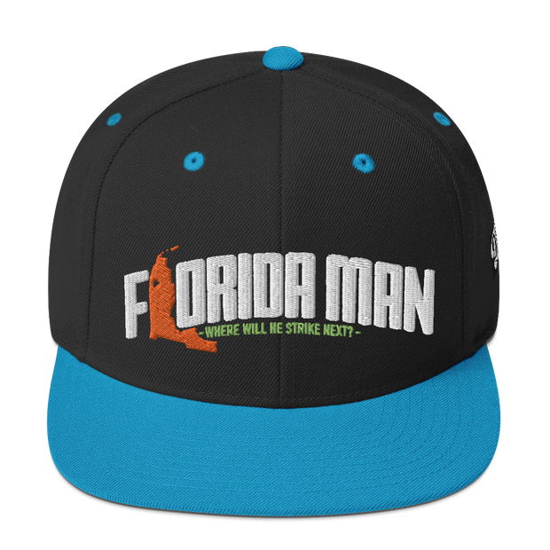 Florida Man (Where Will He Strike Next?) Snapback Hat Devious Elements Apparel hat Florida Man (Where Will He Strike Next?) Snapback Hat Florida Man (Where Will He Strike Next?) Snapback Hat - Devious Elements Apparel