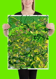 Retro Duck Battle Green Gang Poster Print Devious Elements Apparel Poster Print Retro Duck Battle Green Gang Poster Print Retro Duck Battle Green Gang Poster Print - Devious Elements Apparel
